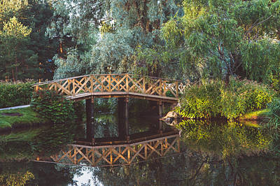 Print featuring the photograph Wooden Bridge by Ari Salmela