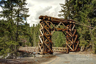 Photograph - Wooden Bridge At Longmire by Chris Anderson
