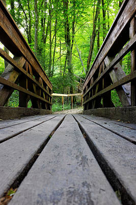 Photograph - Wooden Bridge by Fabrizio Troiani