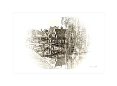 Wooden Bridge Art Print by Maciek Froncisz