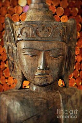 Gautama Photograph - Wooden Buddha by John Greim