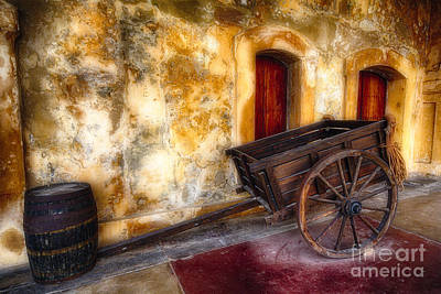 Wooden Cart And A Barrel  Art Print by George Oze