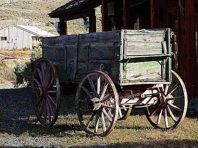 Old Wooden Wagon Painting - Wooden Carts by Iguanna Espinosa