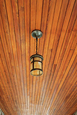 Photograph - Wooden Ceiling by Ric Bascobert