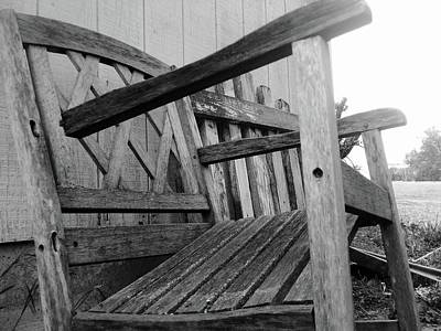 Photograph - Wooden Chair by Ali Dover