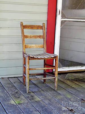 Photograph - Wooden Chair  by D Hackett