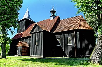 Photograph - Wooden Church In Kuyavia Poland by Elzbieta Fazel