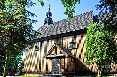 Photograph - Wooden Church In Niestronno Poland by Elzbieta Fazel