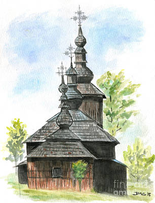 Painting - Wooden Church by Jana Goode