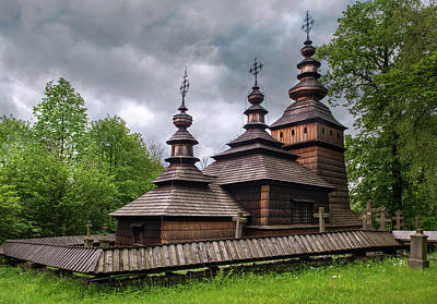 Photograph - Wooden Church Of St. Kosma And Damian by Jaroslaw Blaminsky