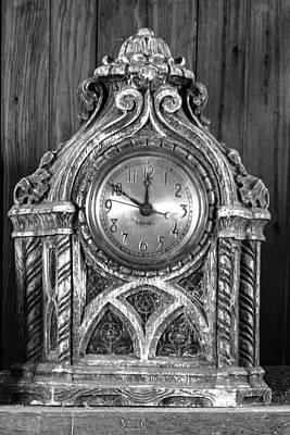 Wooden Clock Art Print by Guy Shultz