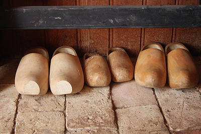 Photograph - Wooden Clogs by Emanuel Tanjala
