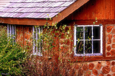 Photograph - Wooden Cobblestone Cottage by Anna Louise