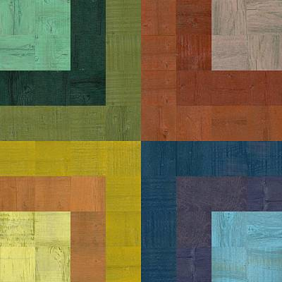 Digital Art - Wooden Collage 63 by Michelle Calkins