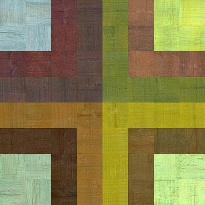 Digital Art - Wooden Collage 67 by Michelle Calkins