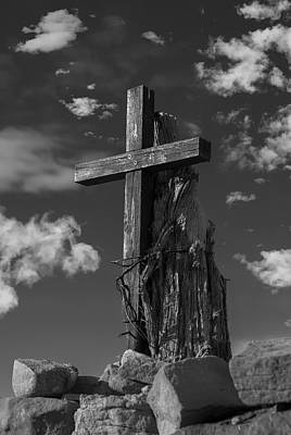 Photograph - Wooden Cross by Carolyn Dalessandro