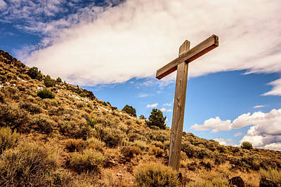 Wooden Cross Art Print by Debra Martz