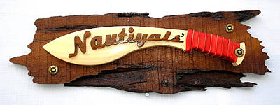 Wooden Name Plate Painting - Wooden Designer Name Plate by Jafar Ali