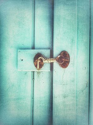 Old Latch Photograph - Wooden Door Latch by Tom Gowanlock