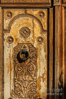 Wooden Door Art Print by Lutz Baar