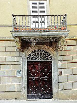 Photograph - Wooden Door With Balcony by Dorothy Berry-Lound