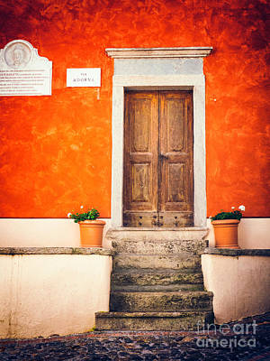 Photograph - Wooden Door With Steps by Silvia Ganora