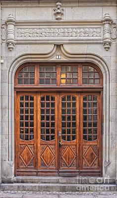 Wooden Doors In Malmo Print by Antony McAulay