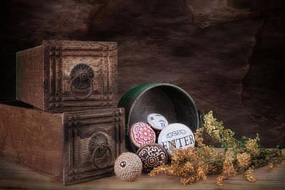 Bucket Photograph - Wooden Drawers And Knobs Still Life by Tom Mc Nemar