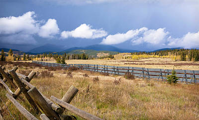 Photograph - Wooden Fence And Storm by Marilyn Hunt