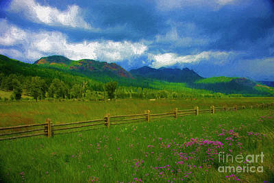 Photograph - Wooden Fence Ranchland by Ed Churchill