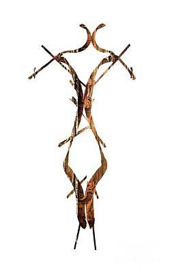 Women Photograph - Wooden Figure by Prar Kulasekara