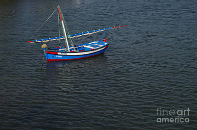 Fishing Boat Photograph - Wooden Fishing Sailboat In Tavira by Angelo DeVal