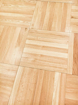 Wooden Floor Panels Art Print