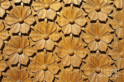 Photograph - Wooden Flowers by John  Mitchell