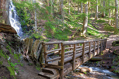 Photograph - Wooden Foot Bridge By Ramona Falls by Jit Lim