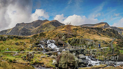 Photograph - Wooden Foot Bridge Snowdonia by Adrian Evans