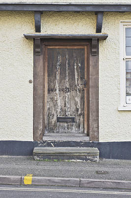 Wooden Front Door Print by Tom Gowanlock