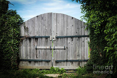 Wooden Gate In Northern Maryland Art Print