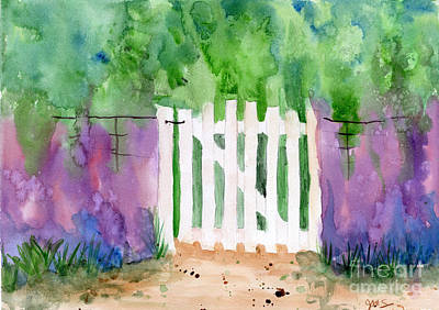 Painting - Wooden Gate by Julia Stubbe