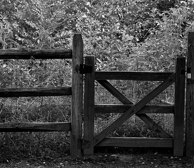 Photograph - Wooden Gate by Karen Harrison