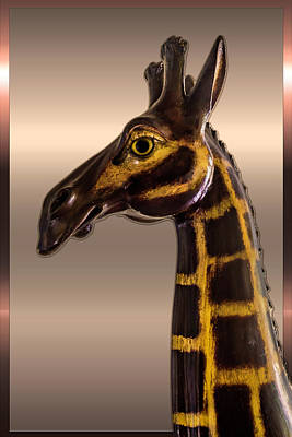 Photograph - Wooden Giraffe Series 2195 by Carlos Diaz