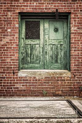 Photograph - Wooden Green Doors  by Imagery by Charly