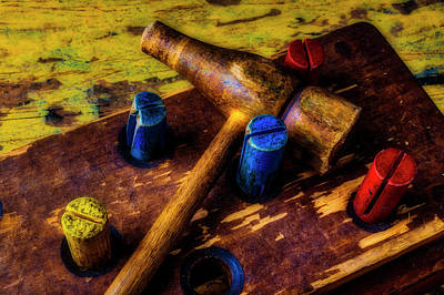 Photograph - Wooden Hammer Toy by Garry Gay
