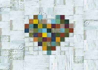 Digital Art - Wooden Heart 2.0 by Michelle Calkins