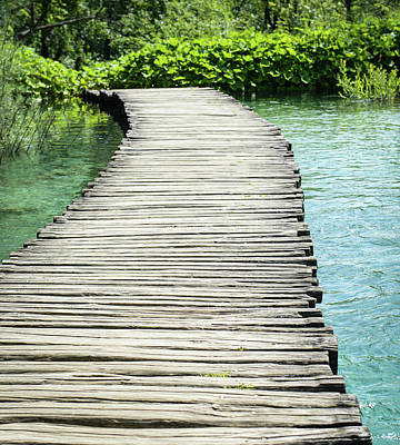 River Photograph - Wooden Hiking Path Or Trail Over Water by Brandon Bourdages