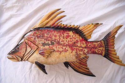 Dryriver Relief - Wooden Hog Fish Number Nine by Lisa Ruggiero