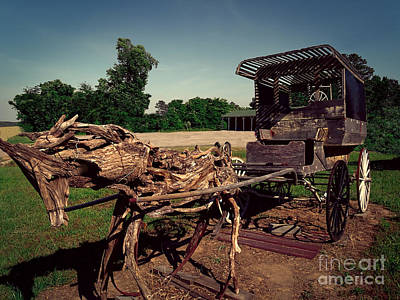 Photograph - Wooden Horse And Buggie by Melissa Messick