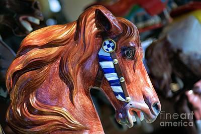 Wooden Horse Art Print by John S