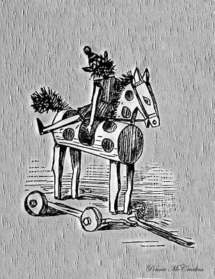 Digital Art - Wooden Horse by Pennie McCracken