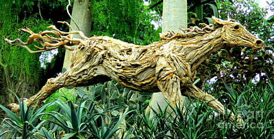 Photograph - Wooden Horse by Randall Weidner